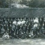 Die Mitglieder des Schützenverein beim 25jährigen Jubiläum